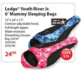 Ledge Blue Camo Youth Sleeping Bag