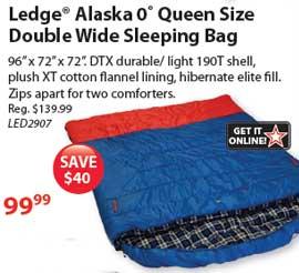 Queen 2-Person Ledge Alaska Sleeping Bag