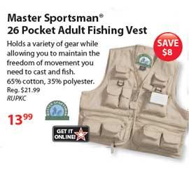 Adult Fishing Vest