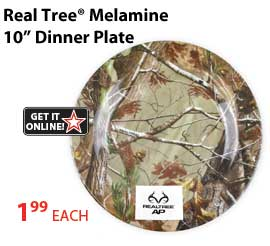 Get your Realtree Melamine Dinner Plate