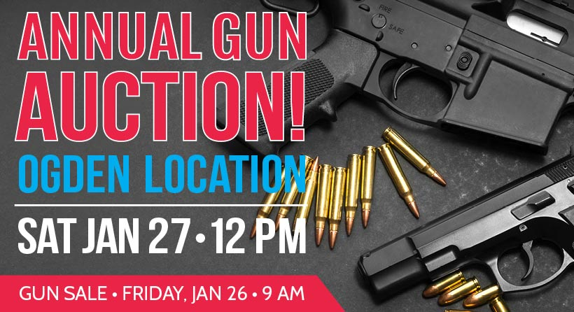 Join us at the annual gun auction Jan. 27th!
