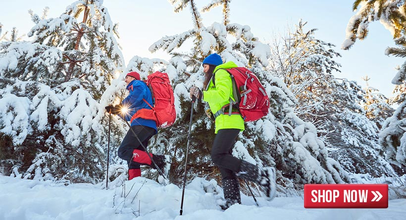 Shop for all the winter camping and hiking gear you need to get out and this season.