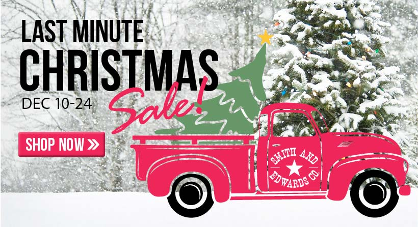 Find everything on your Christmas list and shop our Last Minute Christmas Sale! Going on December 10 - 24.