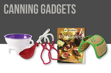 Shop Canning Gadgets like Lid Lifters, Scoops, and Funnels