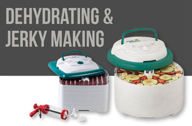 Shop Food dehydrators, jerky guns, jerky spices, dehydrator trays, and much more!