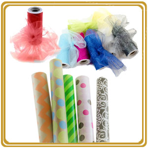 Buy All Wrapped Up wrapping paper and glitter tulle online