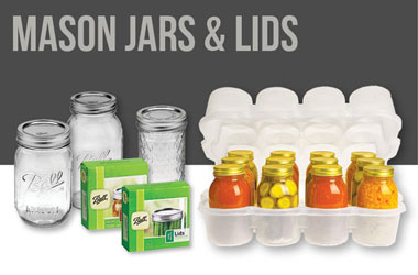 Shop Mason Jars, Canning Jar Lids & Rings, and Mason Jar Storage Boxes
