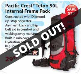 Save $30 on this Grand Teton 50L Backpack!