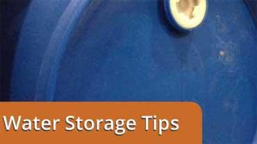 Water Barrel storage tips