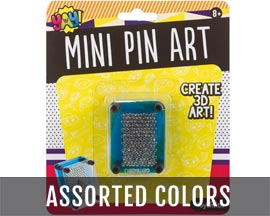 Toysmith® Mini 3D Pin Art Toy - Assorted Colors