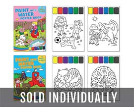 International Greeting Paint with Water Poster Books - Assorted