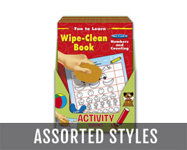 International Greeting Wipe-Clean Activity Book - Assorted