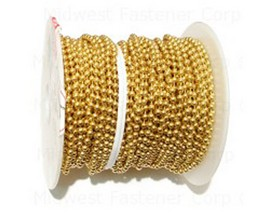 Midwest Fastener® #6 Brass Ball Chain - Sold per Foot