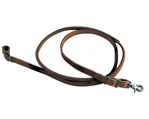 Rounded Leather Roping Reins