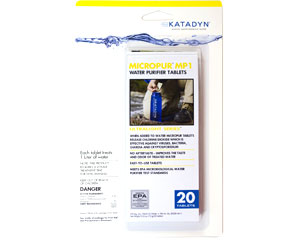 Katadyn Micropur MP1 Purfification Tablets - Pack of 20