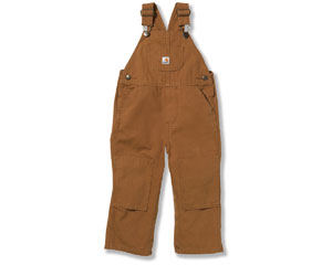 Carhartt® Infant Toddler Boys' Washed Canvas Bib Overalls (3m-4T)