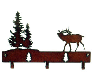 Rustic Ironwerks Elk Decorative Hooks