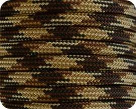 Brown Camo 550 Paracord - 100 Feet