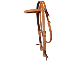 "3/4"" Russet Concho Headstall"