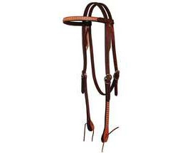 "5/8"" Spotted Chestnut Browband Headstall"