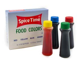 Spice Time Food Coloring - 4 Pack