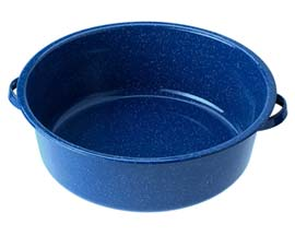 GSI Outdoors Enamelware 15 Quart Dish Pan - Blue