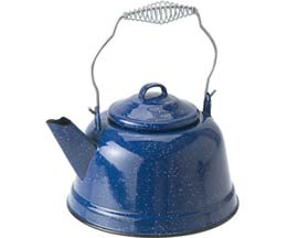 GSI Outdoors Enamelware 10 Cup Tea Kettle - Blue