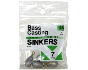 Danielson® Bass Casting Sinkers