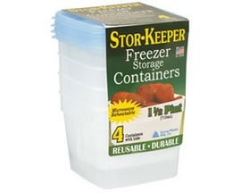 Stor-Keeper® 1-1/2 Pint Freezer Containers - Pack of 4