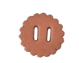 Punched Leather Saddle Conchos