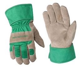 Kids' Suede Cowhide Leather Work Gloves
