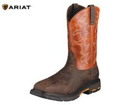Ariat® Workhog Pullon Wide Square Steel Toe Cowboy Boot