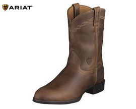 Ariat® Heritage Distressed Brown Roper Cowboy Boot