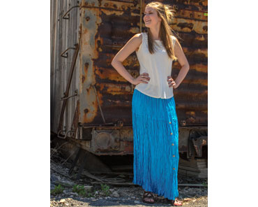 20ccca0290e Get your Crazy Cowboy Ladies  Broomstick Skirt - Teal at Smith ...
