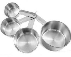 Libertyware Stainless Steel Measuring Cup Set