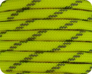 Neon Yellow with Reflector 550 Paracord - 100 Feet