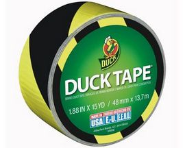 Duck Brand® Yellow and Black Stripe Duct Tape
