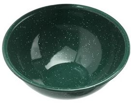 "GSI Outdoors Enamelware 6"" Mixing Bowl - Dark Green"