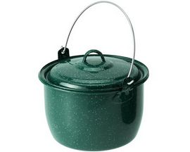 GSI Outdoors Enamelware 3-Quart Convex Kettle - Dark Green