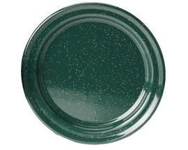 "GSI Outdoors Enamelware 10"" Plate - Dark Green"