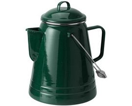 GSI Outdoors Enamelware 36-Cup Coffee Boiler - Dark Green