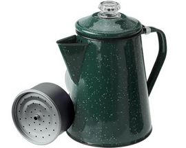GSI Outdoors Enamelware 8-Cup Percolator - Dark Green