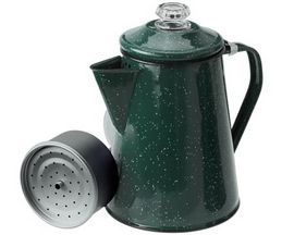 GSI Outdoors Enamelware 12-Cup Percolator - Dark Green