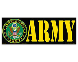 "Eagle Emblems 3-1/4"" x 9"" U.S. Army Horizontal Sticker"