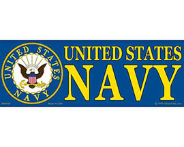 "Eagle Emblems 3-1/4"" x 9"" U.S. Navy Sticker"