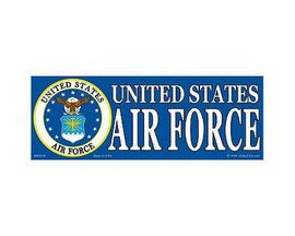 "Eagle Emblems 3-1/4"" x 9"" U.S. Air Force Horizontal Sticker"