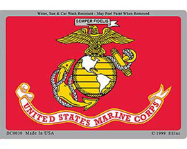 Eagle Emblems U.S. Marine Corps Horizontal Sticker