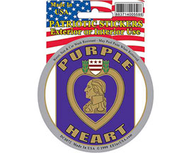 Eagle Emblems Purple Heart Sticker
