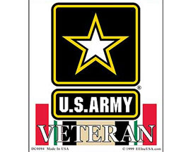 "Eagle Emblems 3-1/4"" U.S. Army Iraqi Freedom Veteran Sticker"
