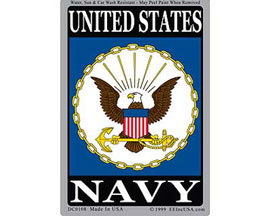 "Eagle Emblems 3"" x 4"" U.S. Navy Sticker"